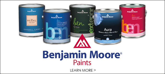 Ultimate Flooring offers a complete line of paints such as Benjamin Moore paints.