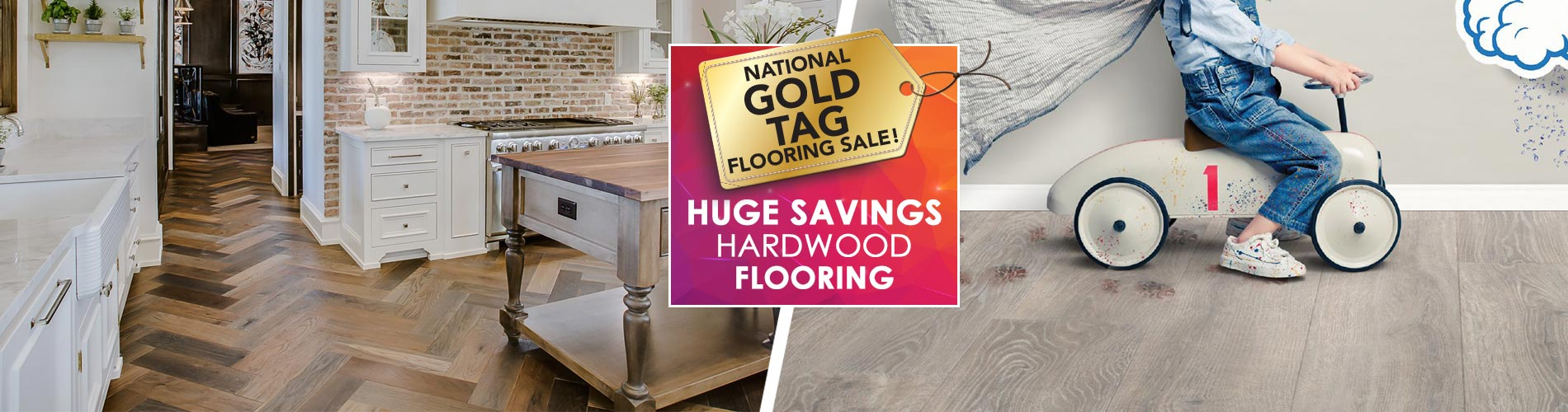 Save on hardwood flooring during the National Gold Tag Flooring Sale at participating locations!