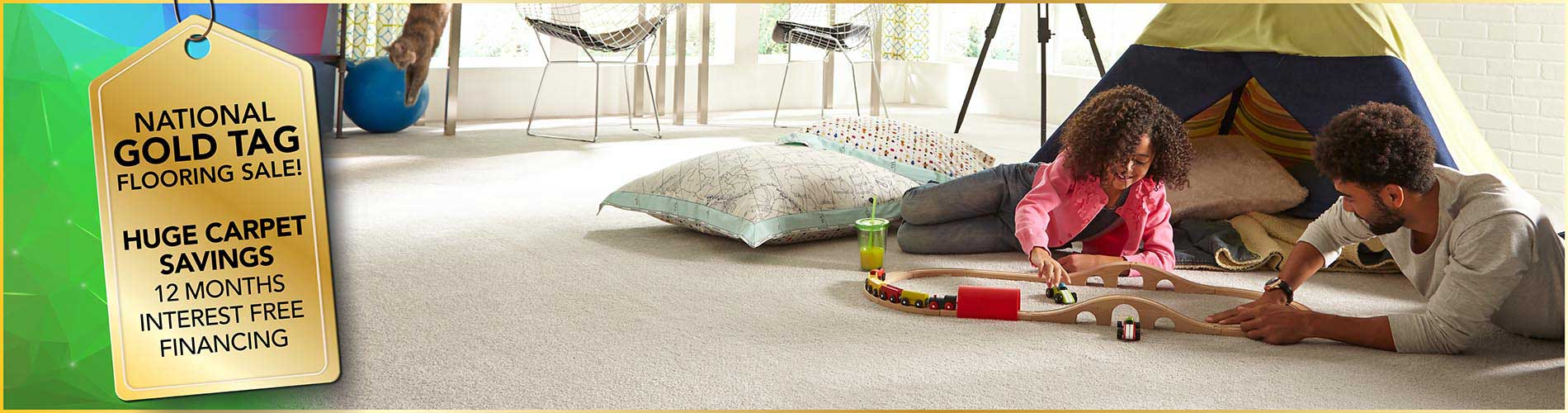 Get huge savings on carpet during our National Gold Tag Sale at Ultimate Flooring & Paint