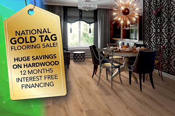Get huge savings on hardwood floors during our National Gold Tag Sale at Ultimate Flooring & Paint