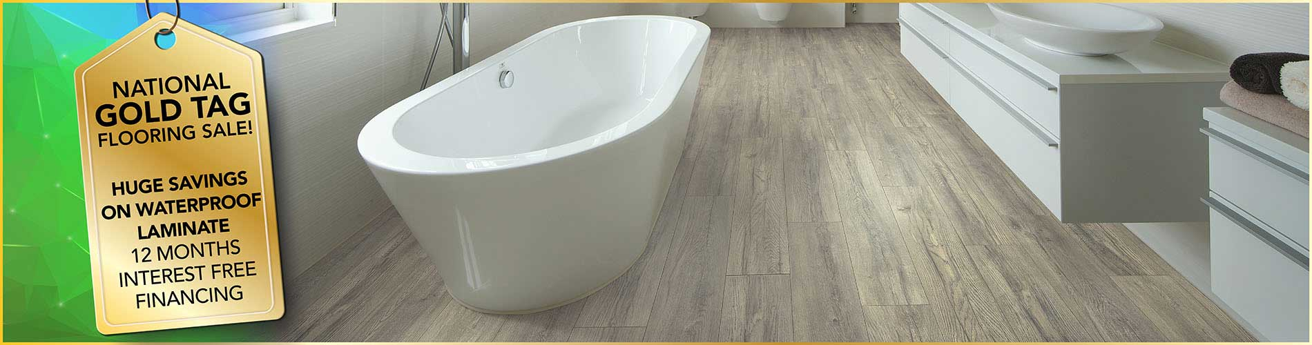 Get huge savings on laminate floors during our National Gold Tag Sale at Ultimate Flooring & Paint