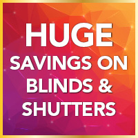 Huge savings on Graber blinds and shutters
