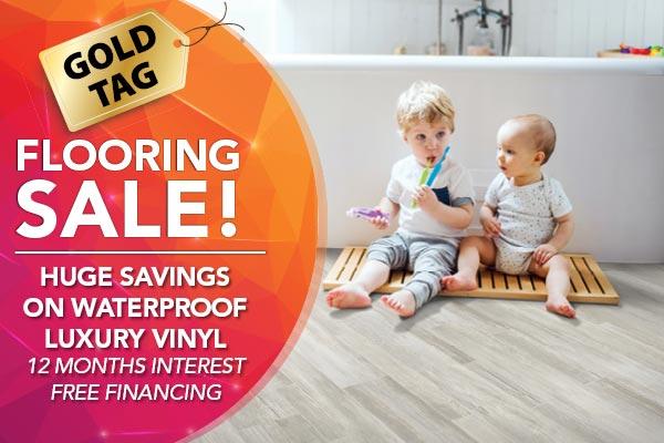 Huge savings on waterproof luxury vinyl