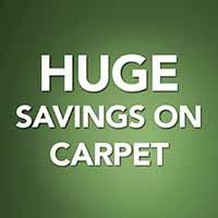 Huge savings on carpet