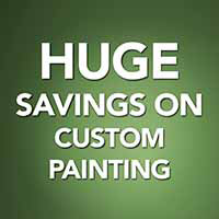 Huge savings on custom painting during our Back to School Sale! 12 months interest free financing